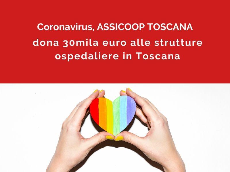 Assicoop Toscana dona 30mila euro alle strutture ospedaliere per l'emergenza Covid-19
